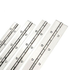 Piano Hinge with Holes in Stainless, Steel, or Aluminum 1,2,3,4,5,6,7,8 ft