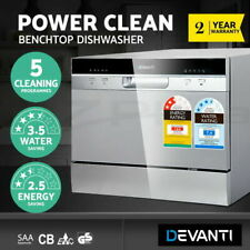 Devanti Benchtop Dishwasher Freestanding Countertop-Dish Washer 6 Place Settings