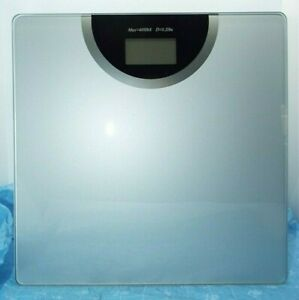 Digital Bathroom Scale LCD Body Weight Management 400 lb Silver Color NEW