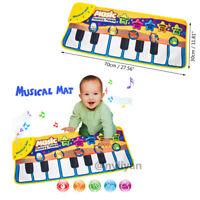 Musical Music Kid Piano Play Baby Mat Animal Educational Soft Keyboard Playmat