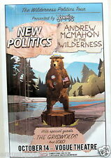 NEW POLITICS/ANDREW MCMAHON IN THE WILDERNESS 2015 VANCOUVER CONCERT TOUR POSTER