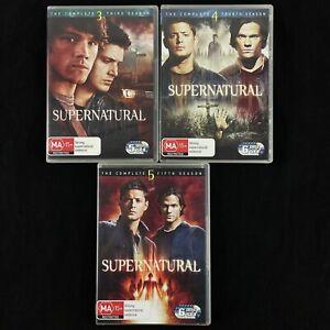 Supernatural Season 3, 4 & 5 DVD 17-Disc Set Region 4 PAL