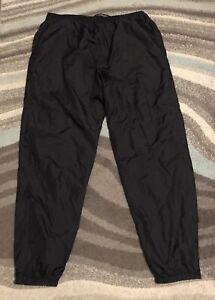 Vintage 90s Nike Nylon Windbreaker Joggers Pants Black Track Lined Mens 3XL