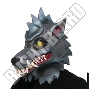 Halloween LATEX MASK WOLF Adults Children Fancy Dress Costume Cosplay Fortnight
