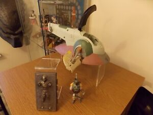 star wars figures boba fetts slave one with boba and han made by hasbro