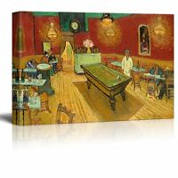 """The Night Cafe by Van Gogh Giclee Canvas Prints Wrapped Wall Art - 24"""" x 36"""""""