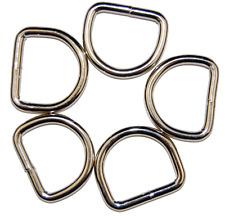 D Ringe Durchlass 15mm, 20mm, 25mm, 30mm aus Zinkdruckguss verschiedene Mengen