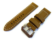 26mm VINTAGE style AMMO STRAP Brown Military 4.5mm Leather 4 PAM Screw Buckle