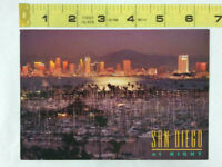 Vtg California CA Postcard ~ SAN DIEGO AT NIGHT ~ Ships FREE