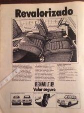 Publicidad Automóvil Renault 8 de 1973