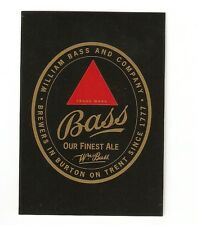 Antique Repro Bass Ales Square corner Single Playing Card