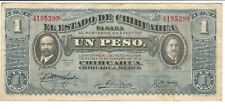 Bank Note Mexico Chihuahua 1 Peso Issued 1914 VF