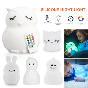 LED Night Light Wall Lamp Kids Baby Bedroom Bedside Table Desk Lamp Dimmable