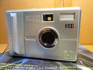 ACARI DIGITAL CAMERA 300KPX Video Stills Webcam USB 3 in 1 - 6 Megashot - AS NEW