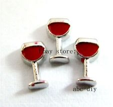 10pcs Wine Glass Floating charms For Glass memory Locket Free shipping Fc600