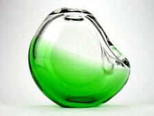 Green Mid-Century Modern Bohemian & Czech Art Glass
