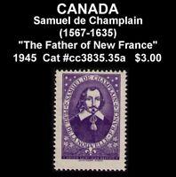 "SPECIAL OFFER CANADA 1945 MNG SSJB ""SAMUEL DE CHAMPLAIN 1567-1635"" (UD28)"