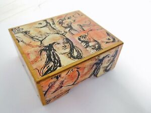 David Bromley Commissioned CERTIFIED DECOUPAGE BOX - ONE OFF 11.5x19x5.5.cm WOOD