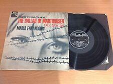 Mikis Theodorakis Maria Farantouri The Ballad Of Mauthausen SIX songs LP Vinyl