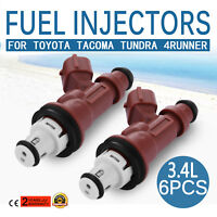 Set of 6 Genuine OEM Toyota 4Runner Fuel Injector 23209-62040 Tundra Tacoma 3.4L