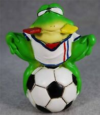 MIB Green Frog Player in Uniform Sitting on Soccer Ball Figurine #77053