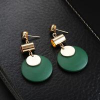 Women Fashion Gold Simple Geometric Stud Drop Dangle Earrings Jewelry
