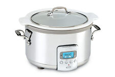 All-Clad SD710D51 SLOW COOKER W/ WHITE CERAMIC INSERT & GLASS LID 4-QUART WOW!
