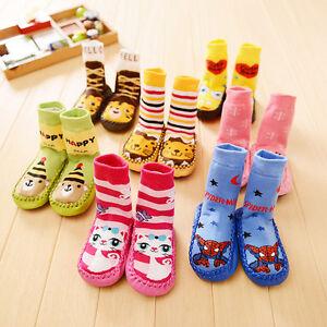 Baby Kids Toddler Girls Boys Unisex Anti-Slip Socks Shoes Slipper SOK06