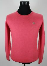 Mens Lacoste Jumper, Sweater, Size 5, M Medium, Pink, Wool, Crew Neck #EF013