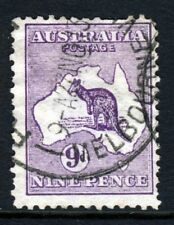 AUSTRALIA 1913 'Roo 9d. Violet Die II Wmk Type 2 Perf 12 SG 10 VFU