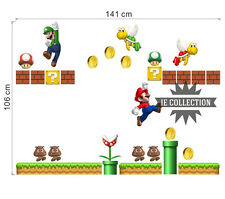 SUPER MARIO BROS. 29 ADESIVI DECORATIVI DA MURO wall stickers Decals decor casa