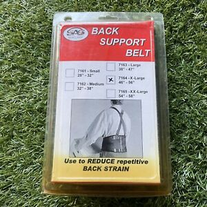 Sas Safety 7164 Lightweight Polyester Back Support Belt, Size X-large [46 X 56]