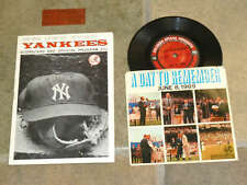 MICKEY MANTLE DAY Program Ticket Record - 1969  YANKEES