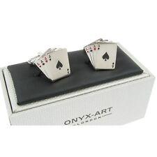 Gemelli quattro assi da Onyx Art-Regalo Boxed-Card Player Giocatore D'azzardo gioco d'azzardo