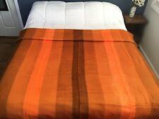 "Handmade Alpaca Blanket - Bright orange, Full/Queen90"" x 70"""