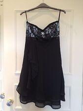 Black Strapless Prom, Ball, Dress by Chi-Chi, Lace Bust, Chiffon Skirt, Size 8