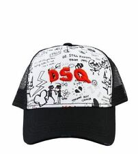 **** 2017 RARE Black & White Dsquared2 DSQ Baseball Cap***Bargain!