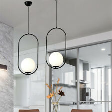 Black Pendant Lighting Glass Chandelier Light Home Ceiling Lights Kitchen Lamp
