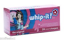 48 Whipped Cream Chargers Nitrous Oxide N2O WHIP-IT LIMITED EDITION PINK CANCER