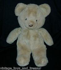"14"" VINTAGE OLD BROWN TAN FUN WORLD KOREA TEDDY BEAR STUFFED ANIMAL PLUSH TOY"