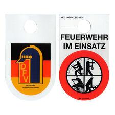 Feuerwehr im Einsatz Schild Kennzeichen DFV Saugplakette Feuerwehrschild