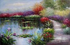 Claude Monet Garden at Giverny Repro 13, Hand Painted Oil Painting 24x36in