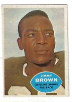 1960 Topps Football Card #23 Jimmy Jim Brown, Cleveland Browns EXMT
