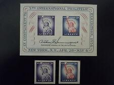 1956 #1075, 1075a, 1075b  5th International Philatelic Exhibition Issue  MNH OG