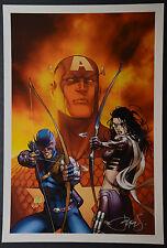 Captain America Fallen Son 3  Michael Turner Aspen Art Print