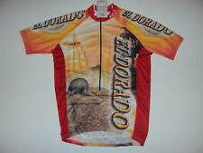 New EL DORADO  Mexico Yellow Cycling Jersey size L