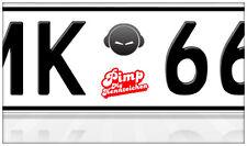 AU Ersatz Plakette Nummernschild Aufkleber Headphone Smiley Beats dr Dre Inears
