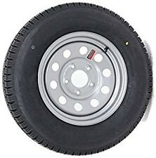 Contender 205/75/R14 LR C  5 Lug Silver Mod Trailer Tire / Wheel Assembly 5-4.5