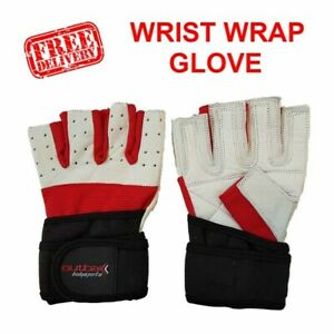 Outbak Bodybuilder Gym Glove Weight Lifting with Wrist Wrap