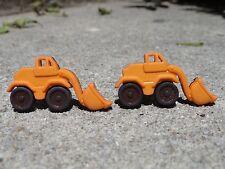 Bulldozer Cufflinks-Artsy Handmade Vehicle Boy Toy Construction Builder Tractor